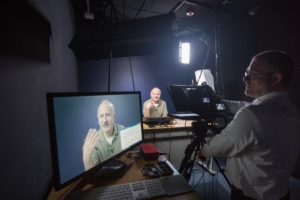 6/10/14 Behind the scenes during a recording of a Digital Education online course; also know as a MOOC (massive open online courses).