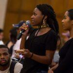 Students speaking